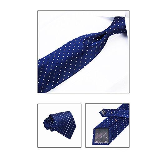 Tour blu Scatola con bianchi cravatta Amazing di puntini uomo scuro ZwBdqB6v