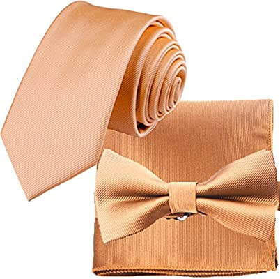 Bow Tie and Pocket Square Matching Set Flairs New York Gentlemans Essentials Neck Tie