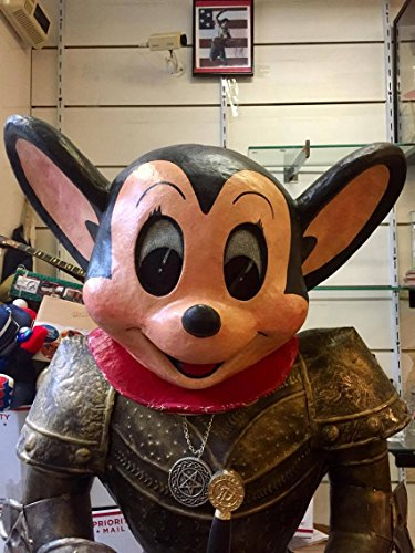 [Mickey Mouse Or Mighty Mouse Paper Mache' Costume Head ONLY 21