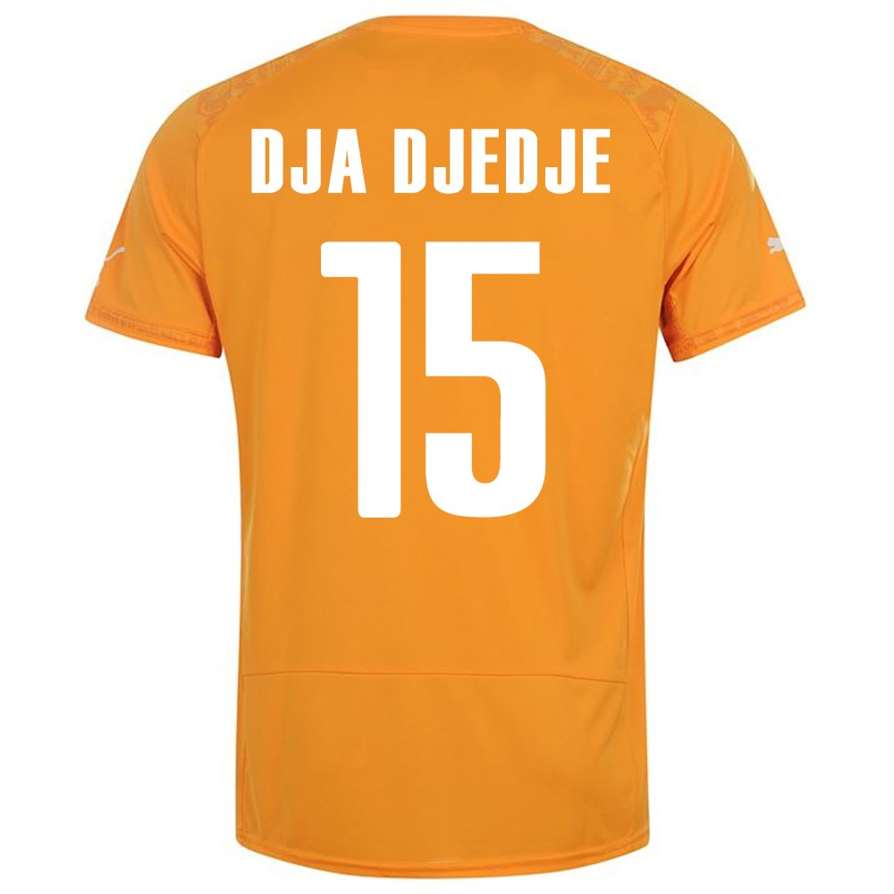 PUMA DJA DJEDJE #15 IVORY COAST HOME JERSEY WORLD CUP 2014/サッカーユニフォーム コートジボワール ホーム用 ワールドカップ2014 背番号15 ジャジェジェ B00K58H14K S