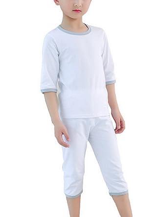 T 34 Unisexe Shirt Rond Bigood Manche Pantalon Pyjama Enfant Col wXTPkZilOu