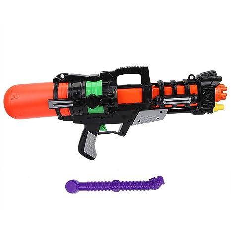 Bnineteenteam Pistola de Agua Grande Tipo tirón Negra ...