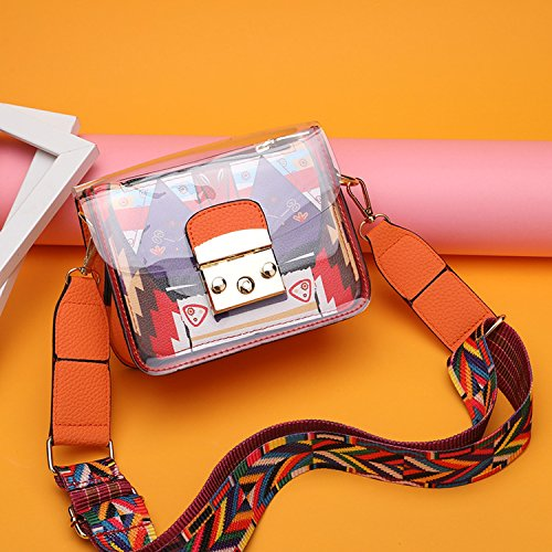 jelly shoulder bag 2018 Korean Pink fashion Messenger female transparent bag w7tS6qx