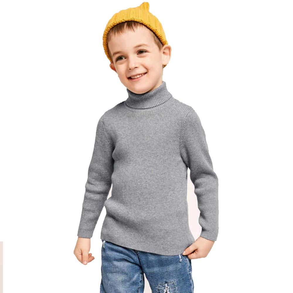 Finger's Toddler Boy Girls Rib Knit Roll up Turtleneck