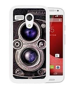 Grace Protactive Rolleiflex Camera White Case Cover for Moto G