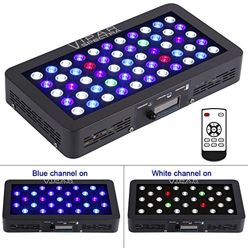51wZUstWX5L - VIPARSPECTRA Timer Control 165W LED Aquarium Light Dimmable Full Spectrum for Coral Reef Grow Fish Tank