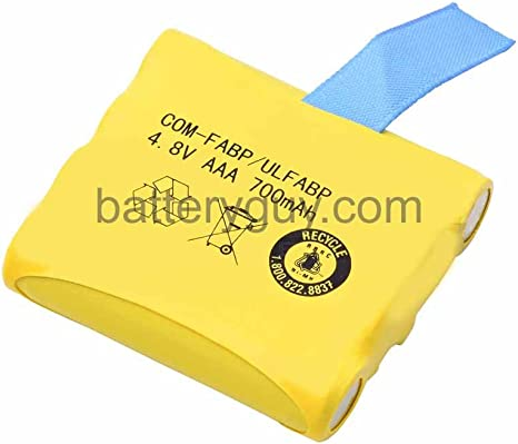 Replacement for Cobra Two-Way Radio Battery 800mAh, 4.8V, NI-MH 2 Pack of Cobra microTALK FRS80 Battery