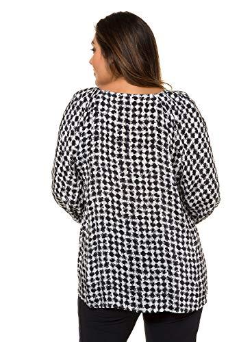 Popken Tailles Cupro 718866 de Bleu Femme Ulla Minuit Grandes Tunique tdqt4