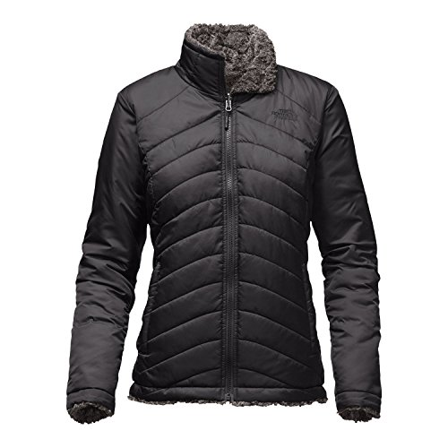 The North Face Women's Mossbud Swirl Reversible Jacket TNF Black/TNF Black Tipped Size Small