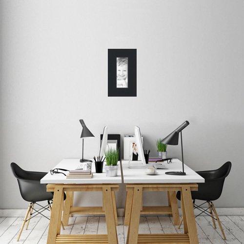 Amazon.com - ArtToFrames 14x36 inch Satin Black Picture Frame ...