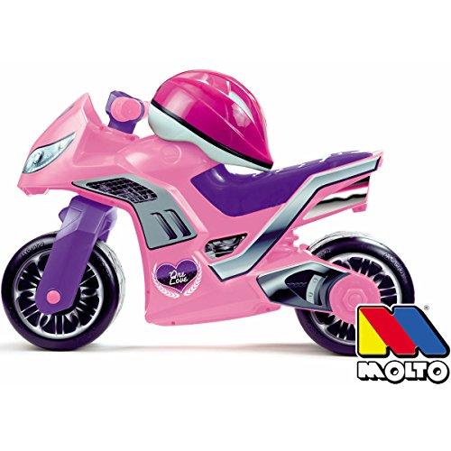Rutschermotorrad und Helm, breite Reifen, für Innen und Außen, 73 cm, rosa: 73cm pink Rutscher Rutschauto Kinder Motorrad Laufrad Mödchen Lila