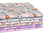"iEFUN 6PCS 20"" x 22"", 100% Cotton Fat Quarters"