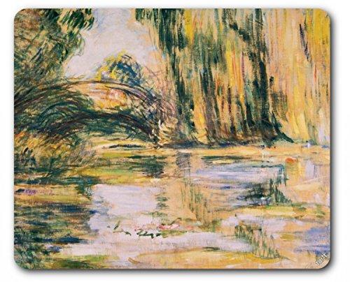 Claude Monet Mouse Pad - Waterlily Pond: The Bridge, 1899 (9 x 7 - Tree Claude Lake Monet