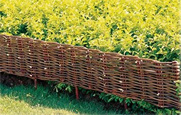 Superbe Ouse Valley Woven 1.2m Willow Hurdle. Lawn Border Edging. 1.2m X 20cm.