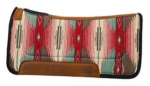 (Weaver Leather Herculon Working Contoured Saddle Pad with Wool Felt Bottom, 32