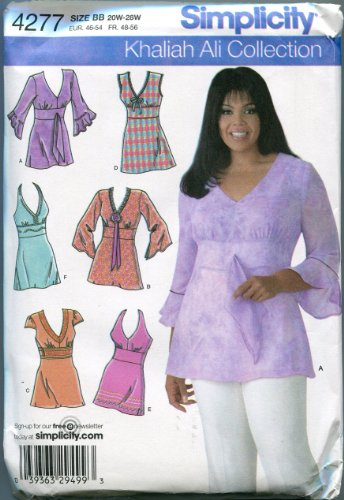 Simplicity Khaliah Ali Collection Pattern 4277 Women's Tunics with Variations Sizes 20W-28W ()