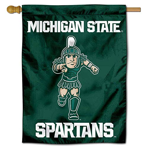 College Flags and Banners Co. Michigan State Spartans Running Sparty Double Sided House Flag