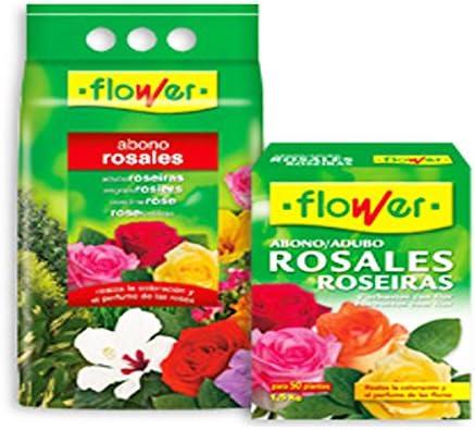 Flower 10744 - abono Rosales, 4 Kg: Amazon.es: Jardín