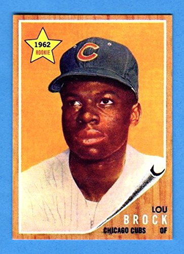 Lou Brock 1962 Topps Baseball Rookie Reprint **Hall of Fame**(Cardinals) (Cubs)