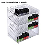 New 4-tiered Clear 32 Compartment Cosmetic Counter Display 12''W x 8.5''D x 14.5''H