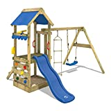 WICKEY Play Tower FreshFlyer Climbing Frame Playground with Sand Pit, Climbing Wall, Swing and Slide