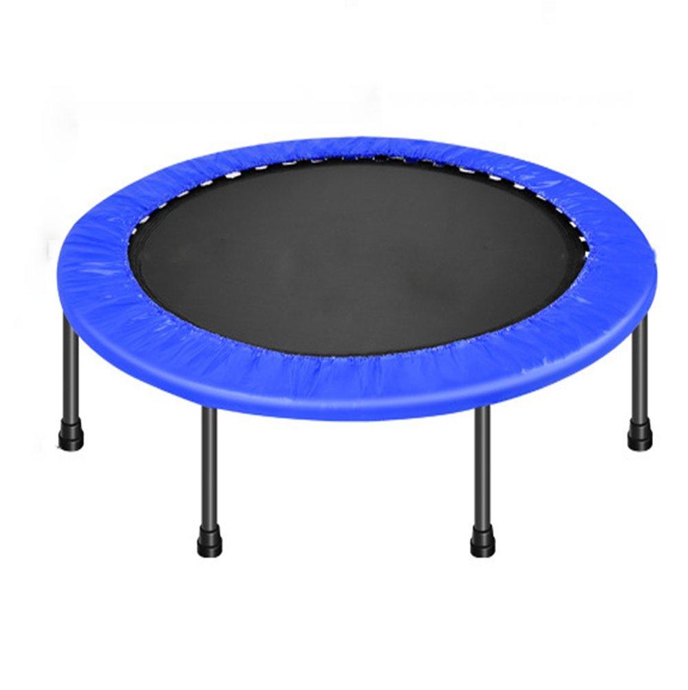 Wly&Home Kinder Tragbar & Faltbares Trampolin-Haltbare Bauweise Sicher Für Blaue Blende 121Cm