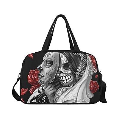 02d76b826ab3 InterestPrint Mexican Sugar Skull Duffel Bag Travel Tote Bag Handbag ...