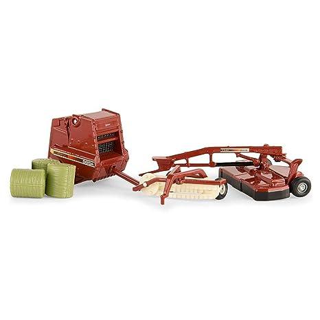 ERTL 1/64th Hesston 3 Piece Hay Set Includes Mower, Hay Rake, Baler 16264