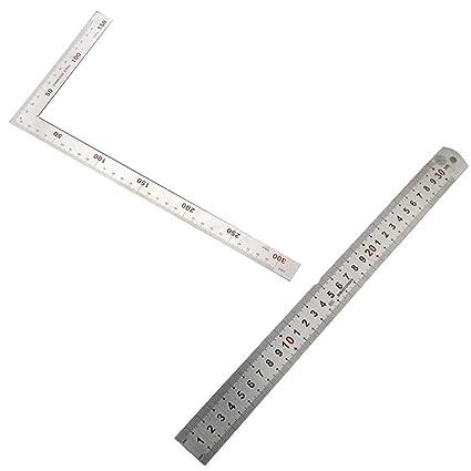 Amazon.com: Liyafy Regla métrica de ángulo cuadrado de 90 ...