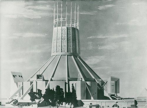 Vintage photo of Great Britain: Liverpool Metropolitan Cathedral