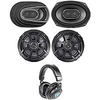 (2) Polk Audio MM692 6x9 900w 3-Way Car Audio Speakers+(2) Kicker 6.5 Speakers