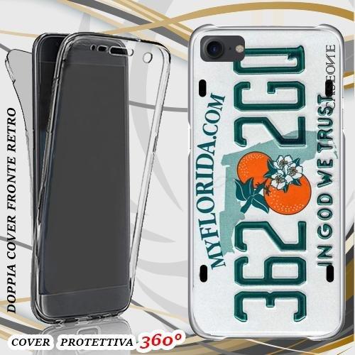 CUSTODIA COVER CASE TARGA FLORIDA PER IPHONE 7 FRONT BACK