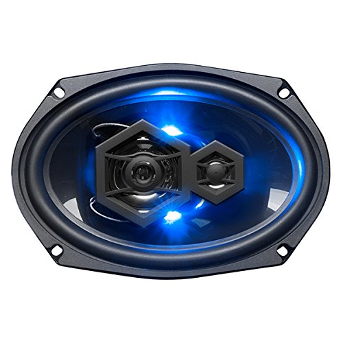 BOSS Audio ''Elite'' Series Car Speakers, Model B69LED | 500 Watt 6'' x 9'' Full Range