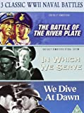 3 Classic World War 2 Naval Battles (The Battle of the River Plate / In Which we Serve / We Dive at Dawn)