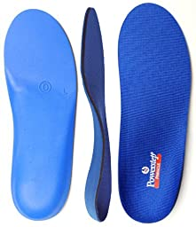 Powerstep Pinnacle Orthotics-U, Blue/Blue, Men\'s 3 - 3.5 / Women\'s 5 - 5.5