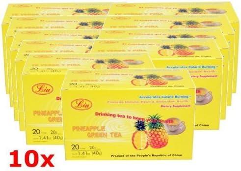 TE DE PINA PINEAPPLE 10 PACK CHINESE GREEN TEA LIU ADELGAZAR ...