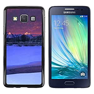 LECELL -- Funda protectora / Cubierta / Piel For Samsung Galaxy A3 SM-A300 -- Nature Moutnain Tips --