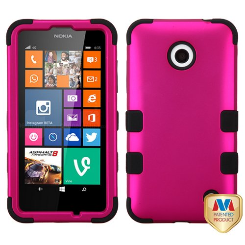 Click to buy Cell Accessories For Less (TM) Nokia Lumia 630 635 Titanium Solid Hot Pink/Black TUFF Hybrid Case Cover Bundle (Stylus & Micro Cleaning Cloth) - By TheTargetBuys - From only $16.97