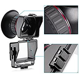 Neewer S4 3X Optical Magnification Foldable Viewfinder for Sony a7 a7R a7II a7S NEX-7 NEX-6 NEX-5R NEX-5T A6300 A6000 A5000, Olympus E-PL5 and Other 3 inches 16:9 LCD Screen HD DSLR Video Cameras