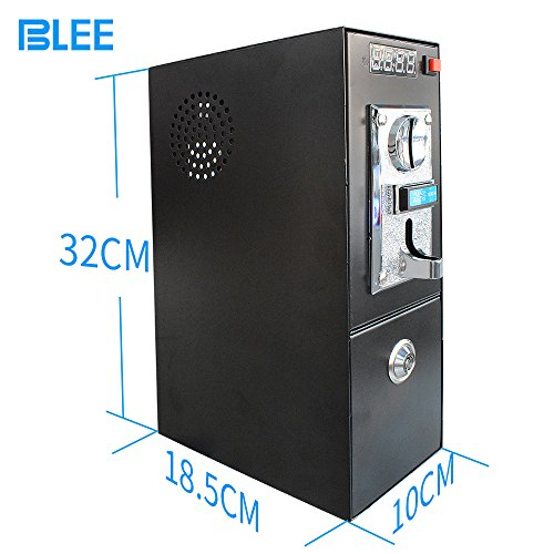 BLEE Coin Operated Timer Controller Board Power Supply Box with 6 Kind Coin Acceptor for Washing Machine, Massage Chair TV 110V or 220 (220V)