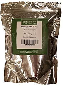 Ashwagandha 100% PURE Root POWDER 1 LB Bulk Bag (16 oz./1 pound) Bulk NATURAL Herb Dietary Supplement CERTIFIED KOSHER