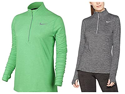 NIKE Womens Reflective Heathered 1/4 Zip Pullover