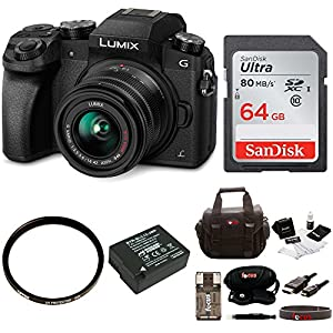 Panasonic LUMIX G7 Camera with 14-42mm Lens Bundle