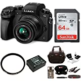 Panasonic LUMIX G7 Camera with 14-42mm Lens + 64GB SDHC + Accessory Bag Bundle