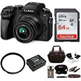 Panasonic LUMIX G7 Camera with 14-42mm Lens + 64GB SDHC + Accessory Bag Bundle For Sale