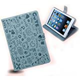 Magic Girl Little Witch Series PU Leather Stand Case Cover iPad Mini (Light blue)