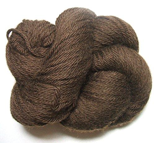 100% Tibetan Yak 48 Down Chocolate Brown Natural Yarn Worsted 100 gram Skein