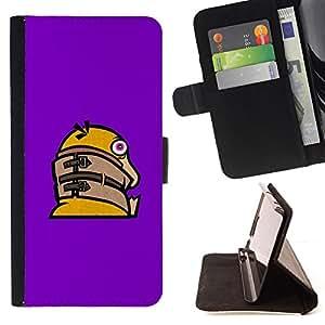 BullDog Case - FOR/Samsung Galaxy S4 Mini i9190 / - / Funny Crazy Duck /- Monedero de cuero de la PU Llevar cubierta de la caja con el ID Credit Card Slots Flip funda de cuer
