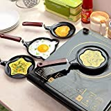 Collectrio Stainless Steel Cartoon Shape Mini Non-Stick Egg Frying Pan (Multicolour)
