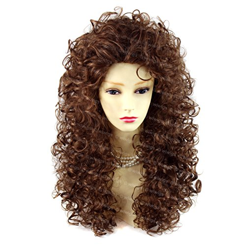 SEXY Wild Untamed Long Curly Wig Light Brown Ladies Wigs ! Wiwig (Ladies Curly Wigs Long)